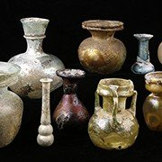 Roman Marbled Glass Flask