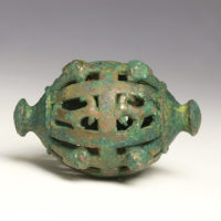 Rare large Luristan iron-age bronze horse bell
