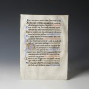 Medieval Manuscript with Illumination