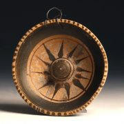 Ancient Greek Dish with Starburst Decoration