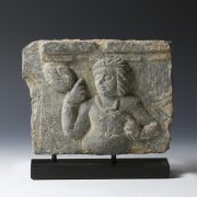 Gandhara Lady Bearing Lotus Relief