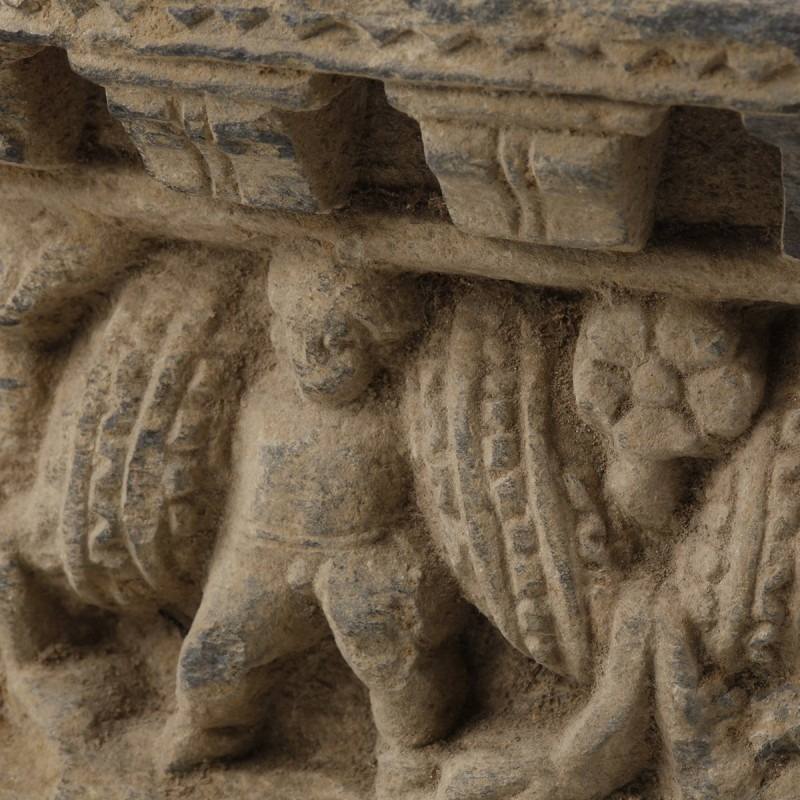 Gandharan Procession Scene with Garland Bearers