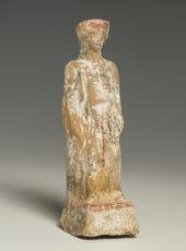Greek Polychrome Pottery Figure of a Woman