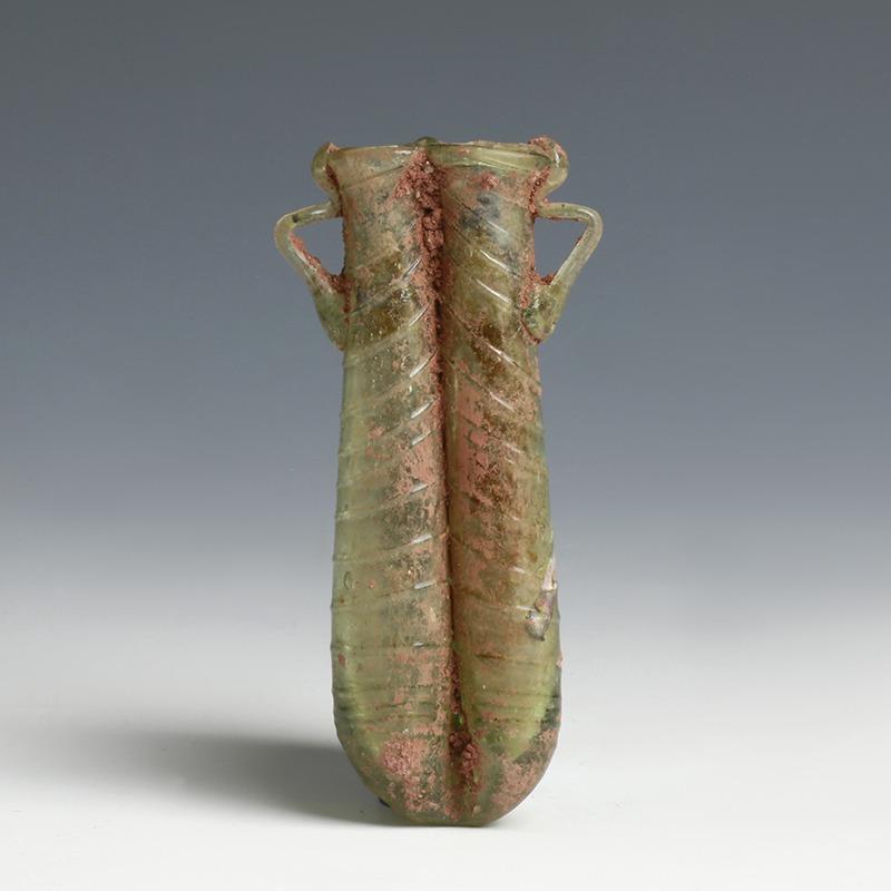 Roman Double Flask Glass Balsamarium
