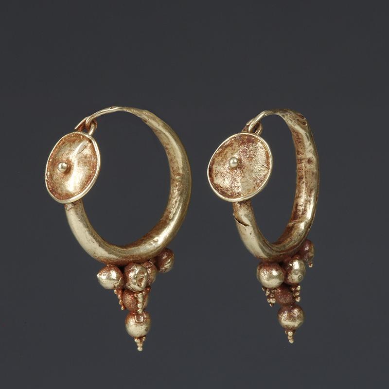 Roman Electrum Earrings