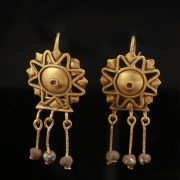 Roman Gold Star Earrings