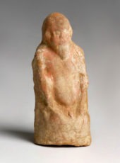 Greek Polychrome Figure of Silenus