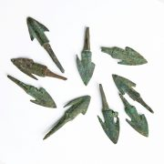 Anatolian Bronze Barbed Arrowhead Points