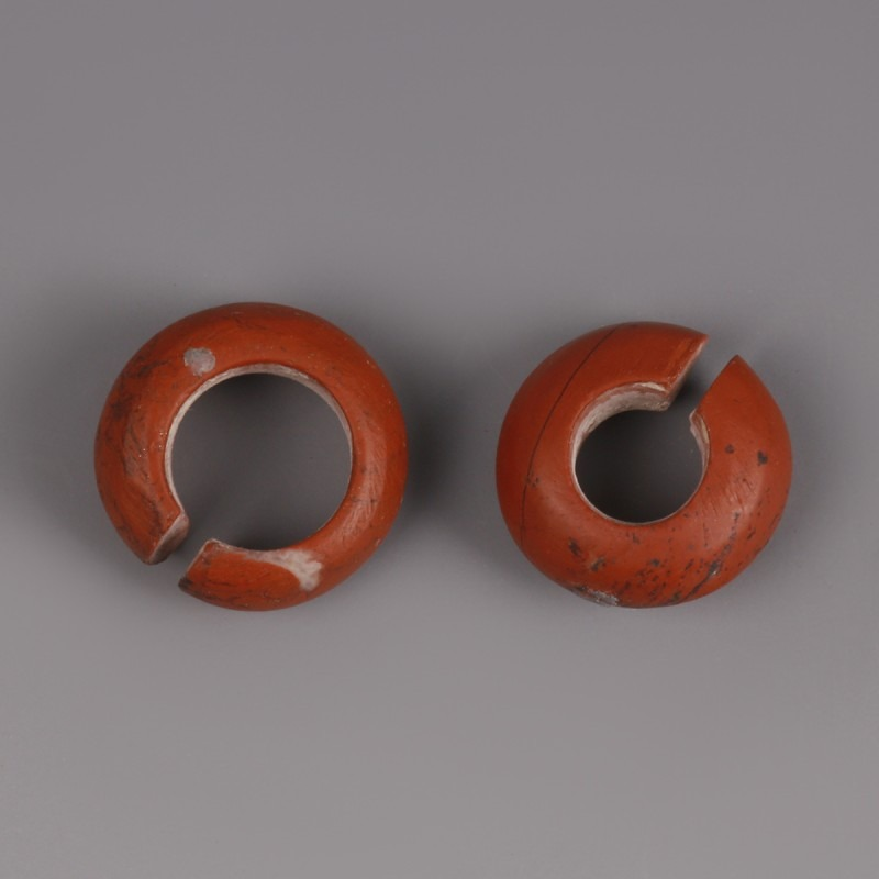 Egyptian Glass Hair Ring Set