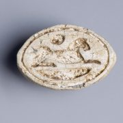 Egyptian Steatite Stylised Cowroid from the Mustaki Collection