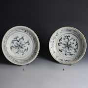 Hoi An Blue And White Dishes With Lotus Flower