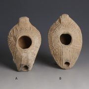 Roman Holy Land Terracotta Oil Lamp