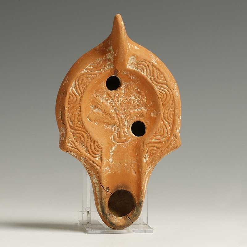 Provenanced Roman North Africa Redware Lamp