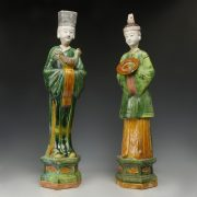 Chinese Ming Dynasty Large Sancai Glazed Offerants