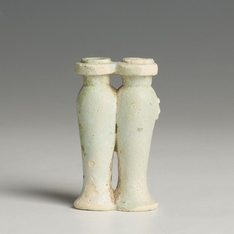 Egyptian Double Chambered Model Libation (Hes) Vase