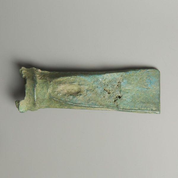 European Bronze Axe Head with Motif