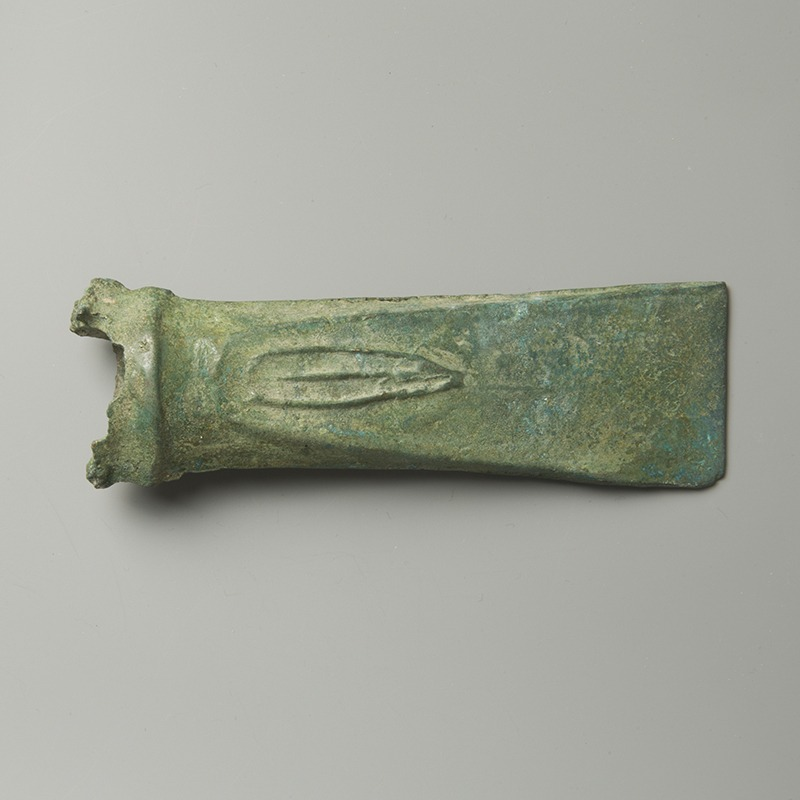 European Bronze Axe Head with Motif