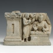 Gandharan Panel Relief with Buddha