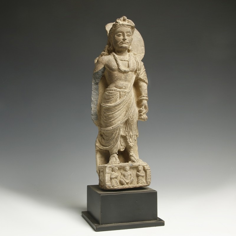 Gandhara Stone Statue of the Bodhisattva Maitreya