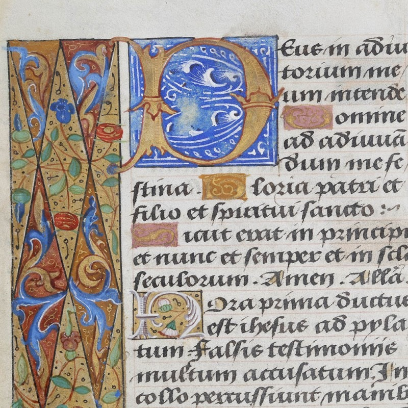 Renaissance Manuscript Page from the Atelier of Jean Coene