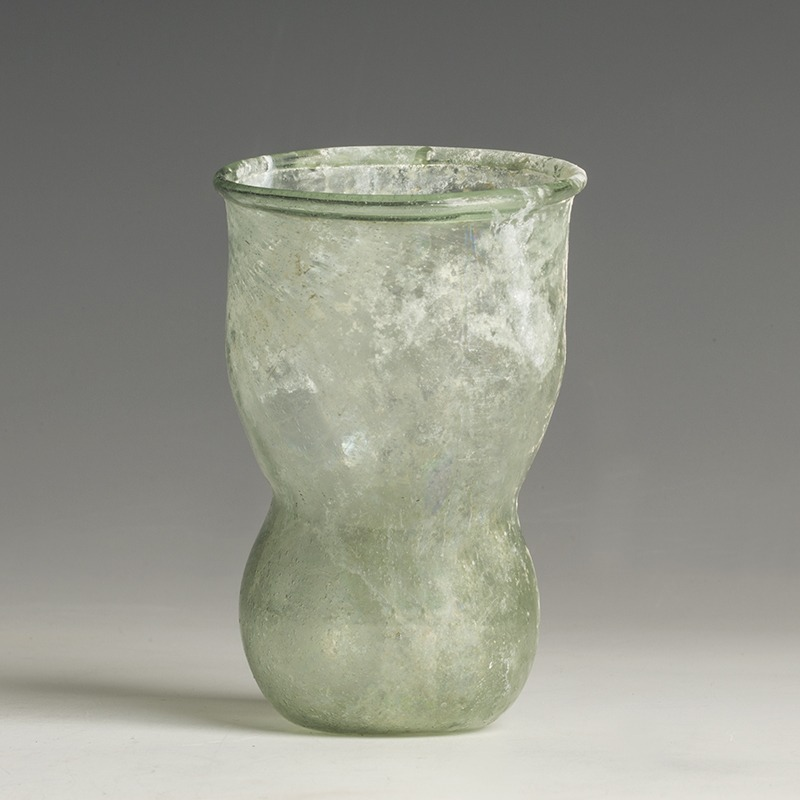 Rare Rhenish Saxon Decorated Glass Beaker