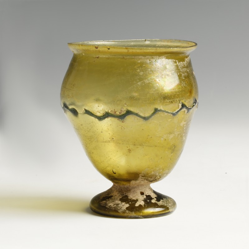 Roman Decorated Glass Goblet