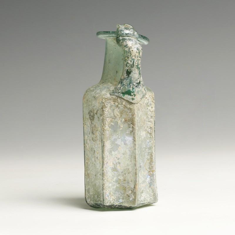 Roman Light Blue Glass Bottle