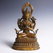 Bronze Statue of Bodhisattva in Lotus Position