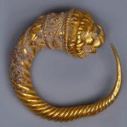Ancient Greek Hellenistic Lion's Head Earring