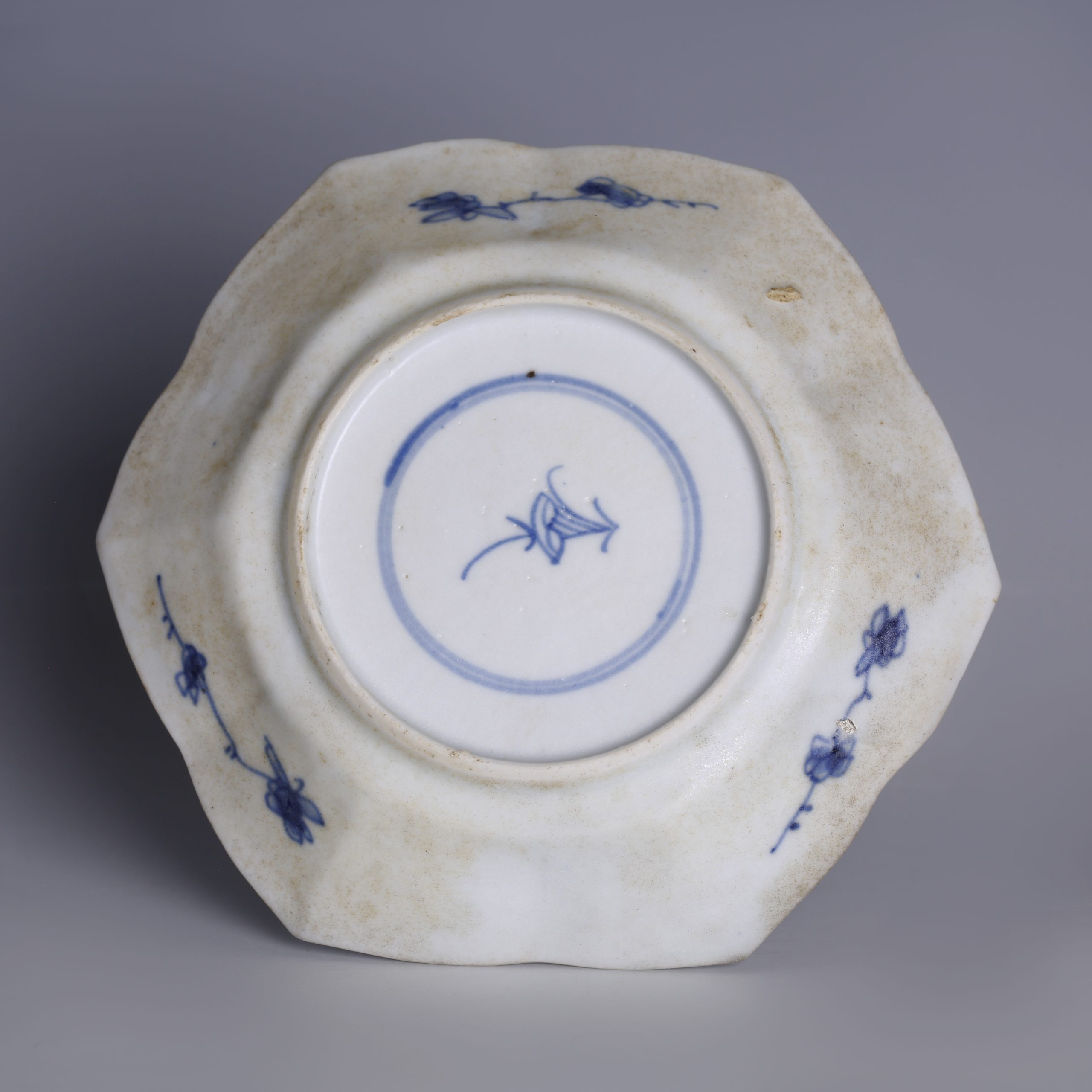 Kangxi Blue and White Export Ware Saucer