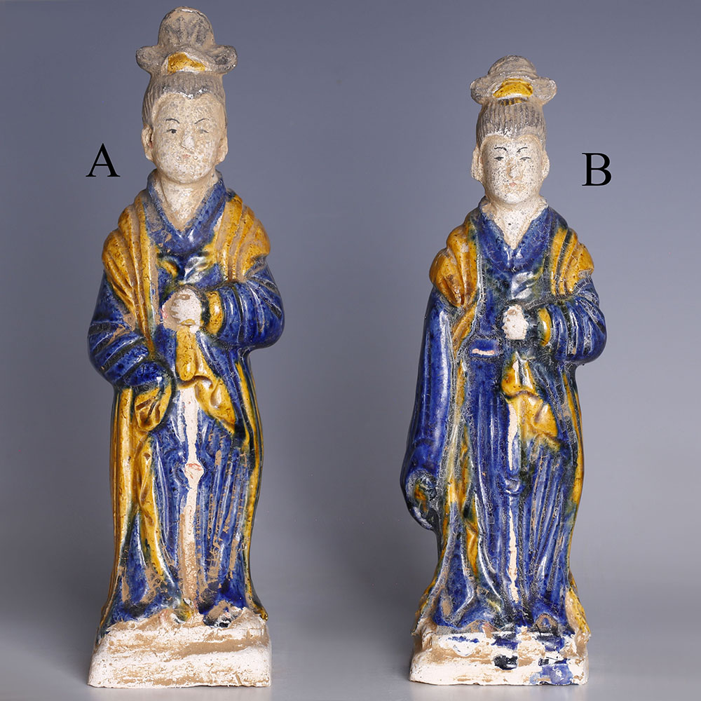 Selection of Ming Dynasty Glazed Attendants
